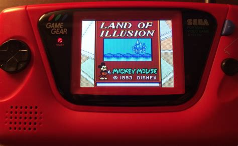 mod led game gear sega game gear lcd mod by mcwill dingoonity org the