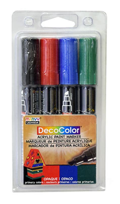 deco acrylic paint set decocolor acrylic paint marker primary set of 4