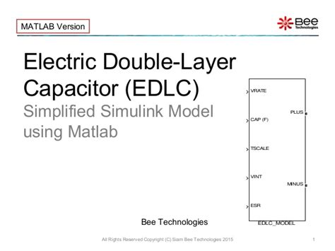 electric layer capacitor performance of a new mesoporous carbon electric layer capacitor edlc simplified matlab model