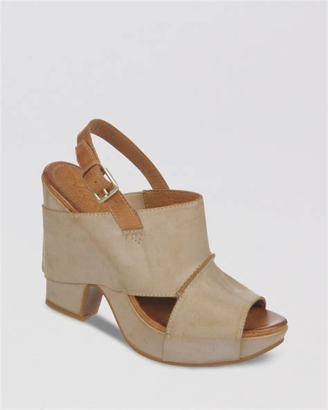 high heel clog sandals naya platform sandals sling clog high heel in brown