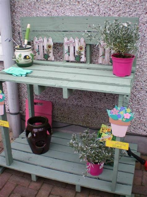 diy potting bench from pallets diy potting bench made with pallets 99 pallets