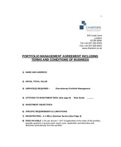 sle business management agreement 8 exles in word