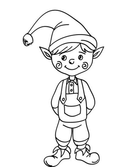 cute coloring pages of elves free printable elf coloring pages for kids