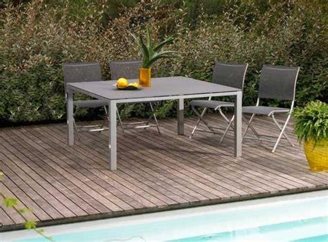 salon a e malang table de jardin en aluminium et textil 232 ne gris b 233 ton