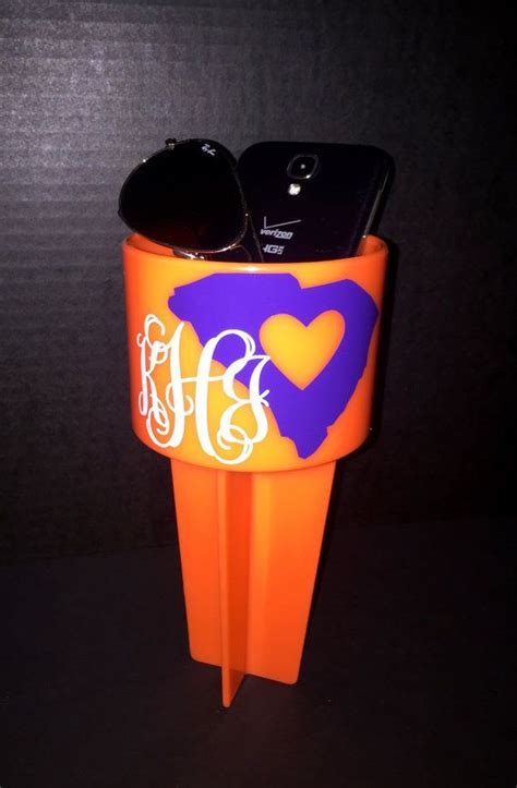 clemson school colors personalized spiker choose your school colors for