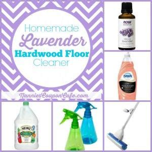 homemade lavender hardwood floor cleaner recipe