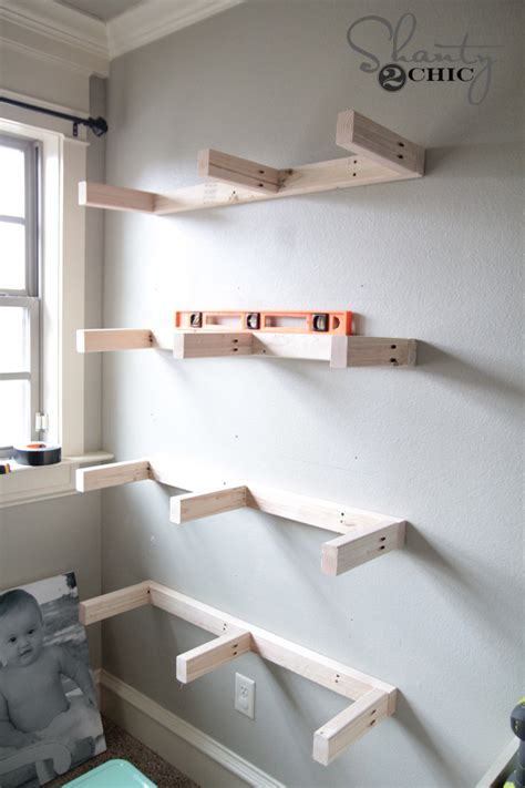 Wall To Wall Shelving Diy Floating Shelves Plans And Tutorial Shanty 2 Chic