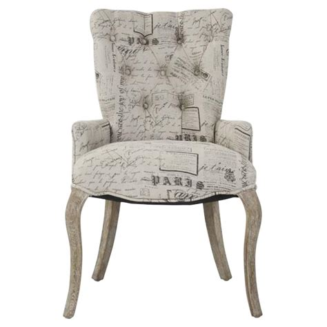 iris tufted vanity dining chair with literary
