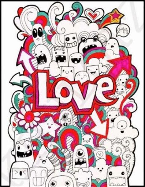 contoh gambar doodle art sederhana  mudah  tiru