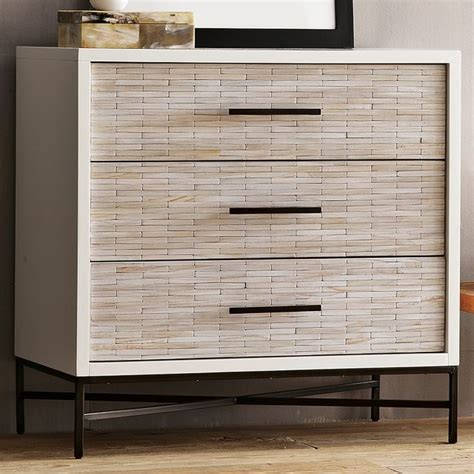 modern bedroom dressers wood tiled 3 drawer dresser modern by west elm
