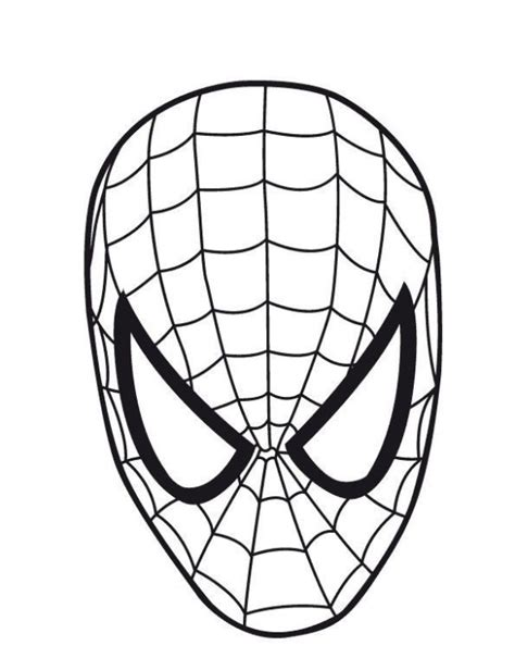 spiderman face coloring page spiderman face template cliparts co
