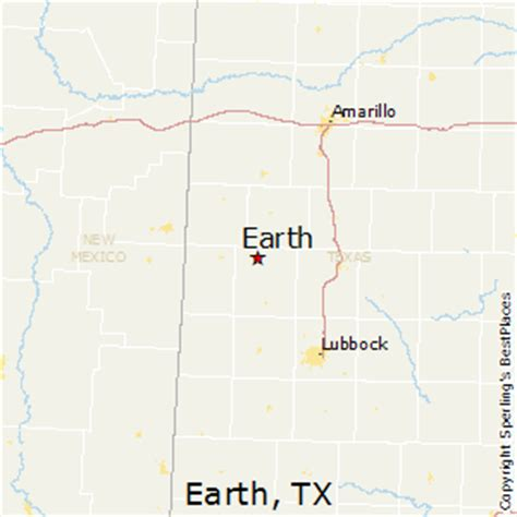 earth texas map best places to live in earth texas
