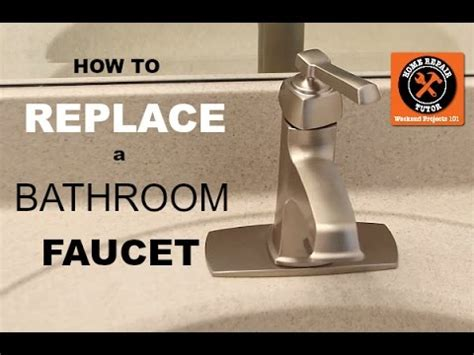 how to replace a kitchen faucet handymanhowto com how to replace a bathroom faucet by home repair tutor