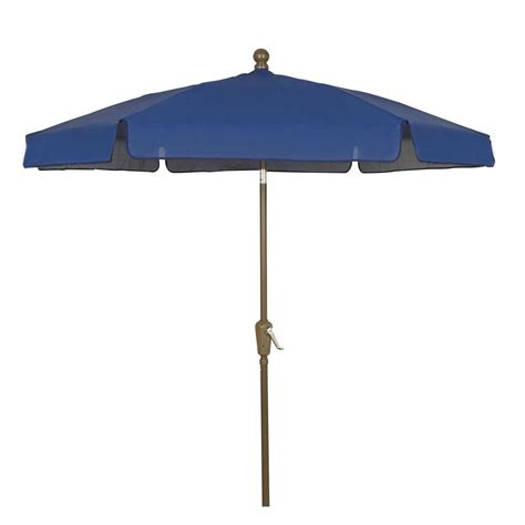 5 Ft Patio Umbrella Picnic Time 5 5 Ft Patio Umbrella In Navy 822 00 138 000 0 The Home Depot