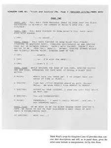 play writing template graphic novel script format tim stout
