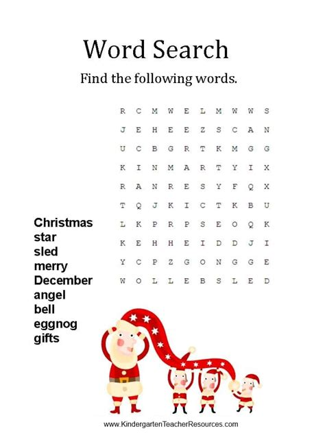 printable word search on christmas christmas word search