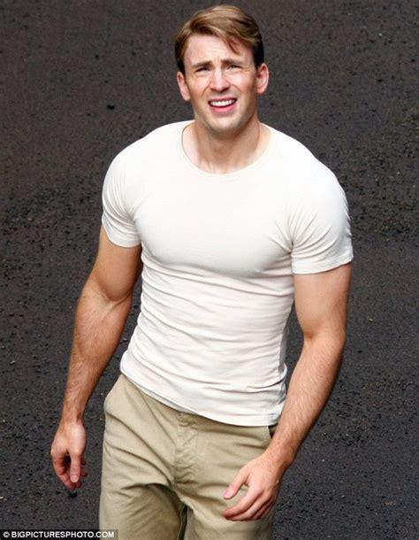 T Shirttshirttshirtkaos Captain America chris white t shirt chris chris chris captain america