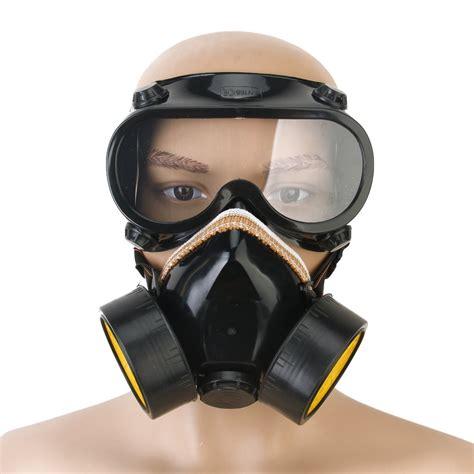 Masker Airbrush gas chemical anti dust paint respirator mask glasses