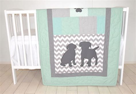 chevron baby boy bedding baby boy bedding puppy quilt dog nursery blanket