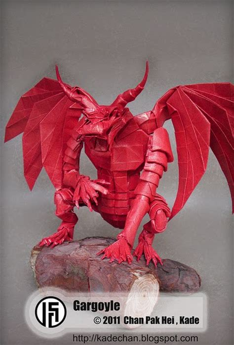 Origami Gargoyle - kade chan origami 香港摺紙工作室 日誌 gargoyle 夜行神龍
