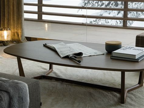 low living room table tridente oval coffee table by poliform design emmanuel gallina