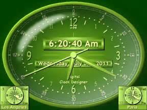 screen digital clock software for pc desktop alarm