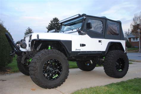 jeep yj custom 1993 custom wrangler yj lifted build