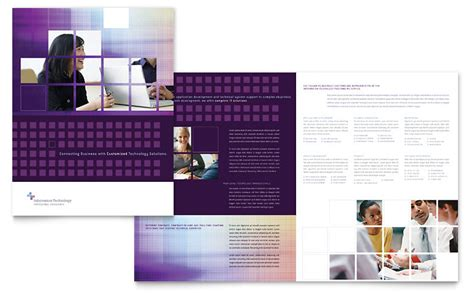 information brochure template information technology brochure template word publisher