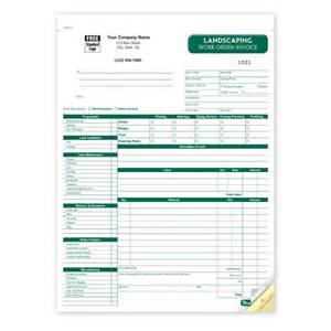 landscaping work order invoice product details designsnprint
