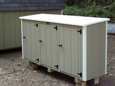 Trash Can Shed Plans by Hollans Models Garbage Shed Plans Details