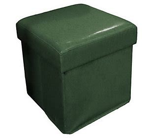 Faux Leather Fold Up Storage Ottoman By Valerie H168880