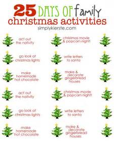 25 days of family christmas activities simplykierste com