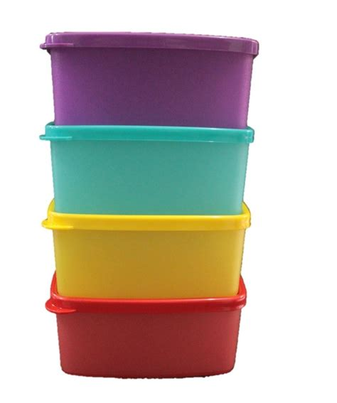 4 Pcs Small Tupperware jual beli tupperware small square 4pcs september