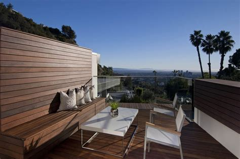 rooftop living space doheny residence hollywood hills by