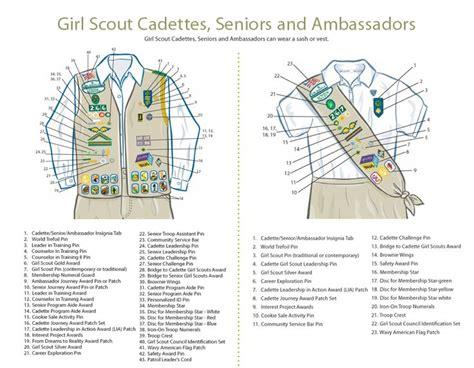 scout junior sash diagram 20 best ideas about scout vest on