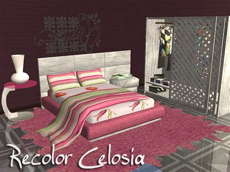sims 2 bedroom mod the sims bedroom people recolor celosia