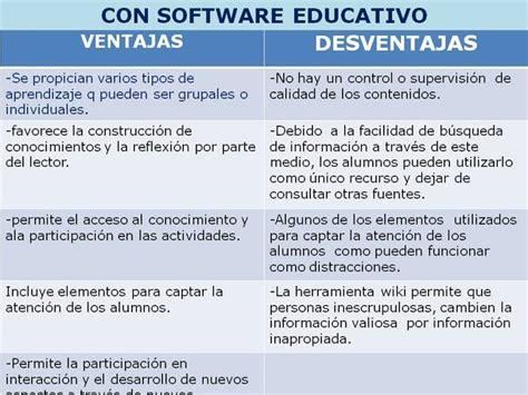 aplicacion de la tecnologia y la informacion la ventajas y desventajas software educativo