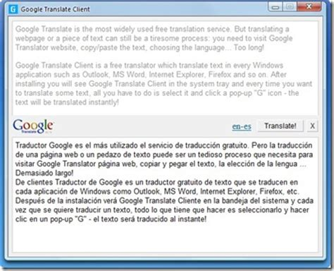 escritorio translation enlacer google translate client traductor de escritorio