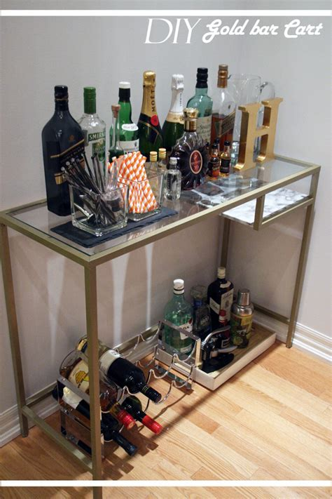 ikea hack bar diy gold bar cart ikea hack my little secrets