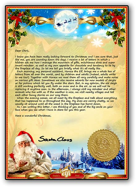 letters from santa letter from santa a personalised santa letter just for you