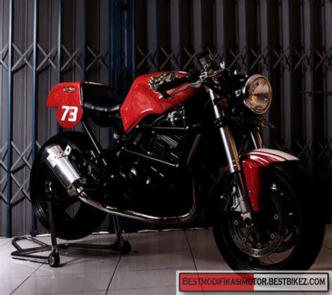 modifikasi kawasaki 250r cafe racer gambar modifikasi motor terbaru