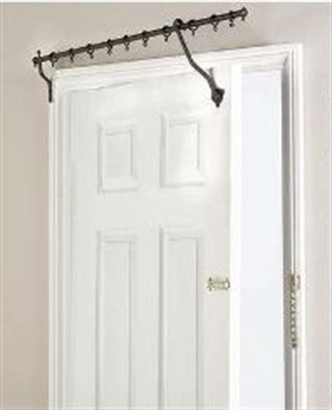 hinged curtain rods over the door hinged curtain rod home decor ideas