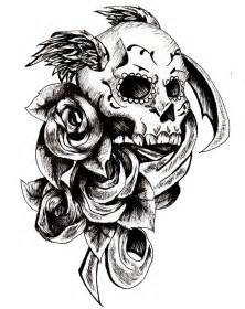 neck corset mexican sugar skull and roses tattoo design