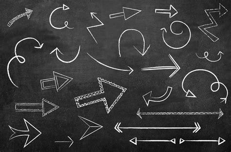 free doodle arrow font chalkboard arrow vectors icons on creative market