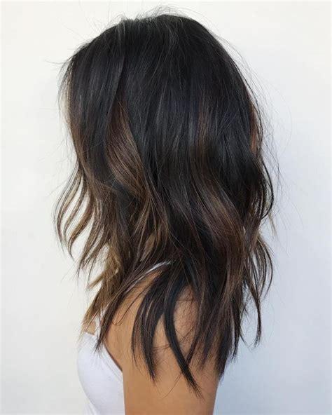 partial highlights on dark hair older women best 25 black hair with highlights ideas on pinterest