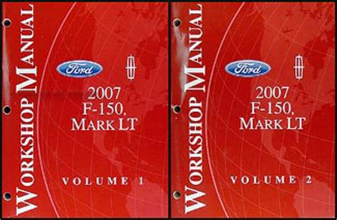 service manual 2007 lincoln mark lt transmission repair 2007 ford f 150 lincoln mark lt repair shop manual 2 volume set original