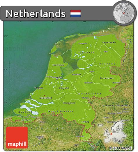 netherlands geographical map netherlands physical map images