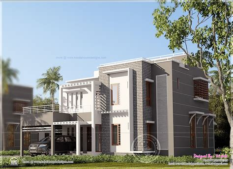 contemporary home design in kerala home kerala plans