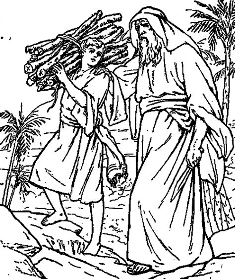 abraham and sarah with isaac free colouring pages