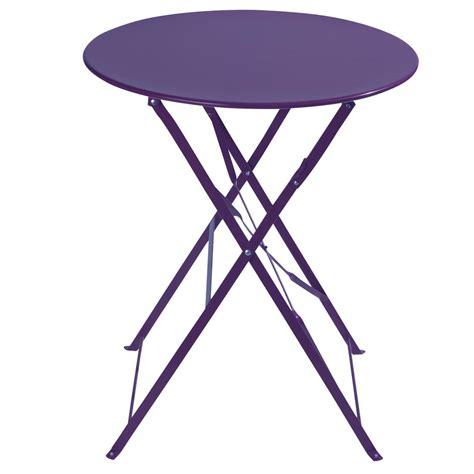 purple metal folding chairs metal folding garden table in purple d 58cm confetti